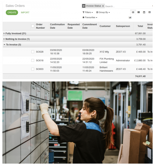 Cloud ERP Software Customer Order Delivery
