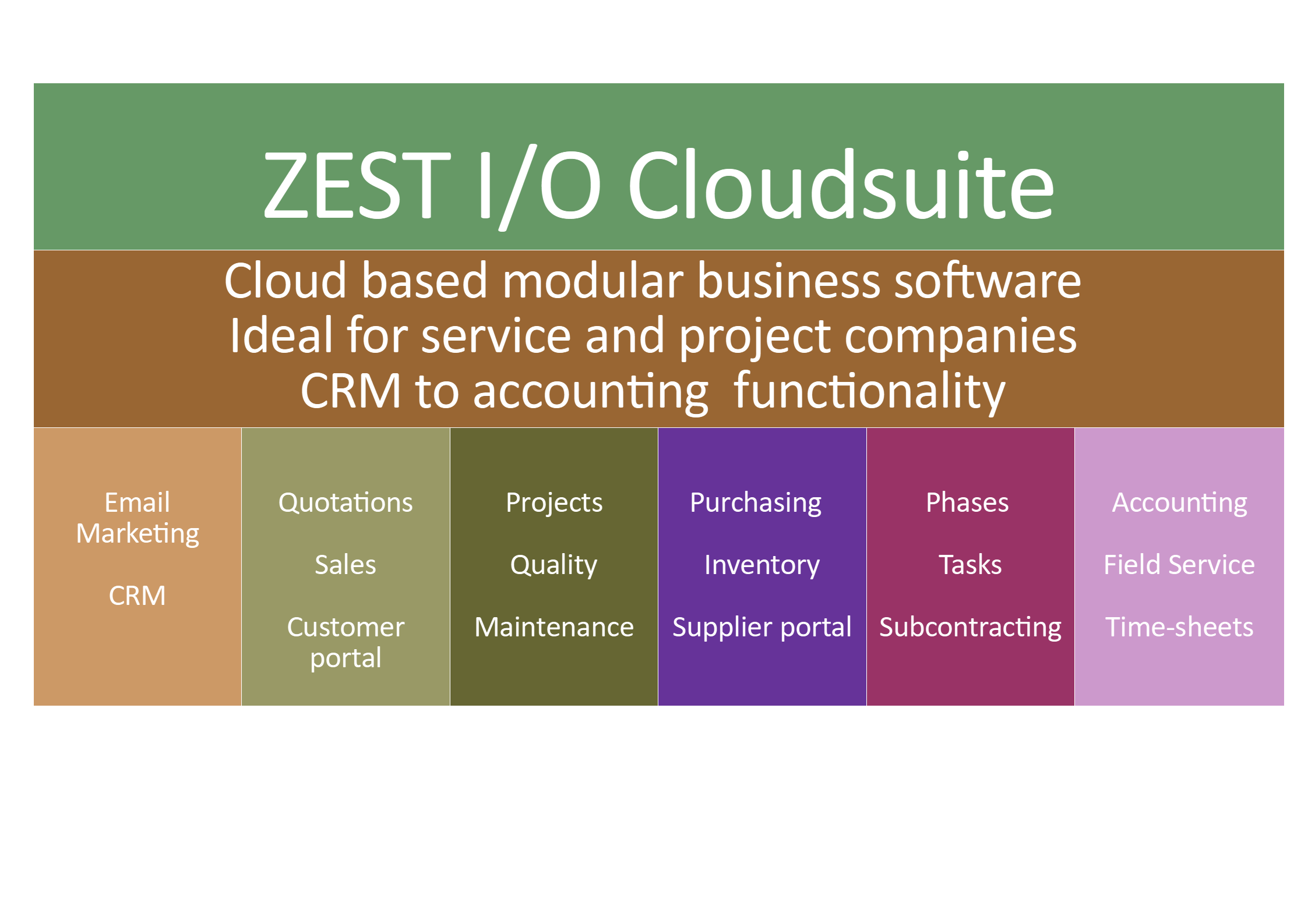 ZEST I-O Cloud software for project companies