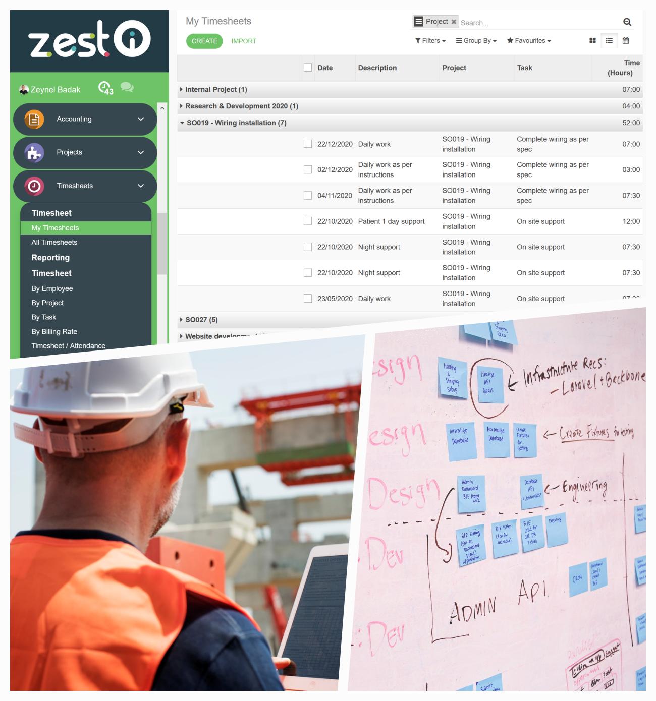 ZEST I-O Employee Timesheet Module