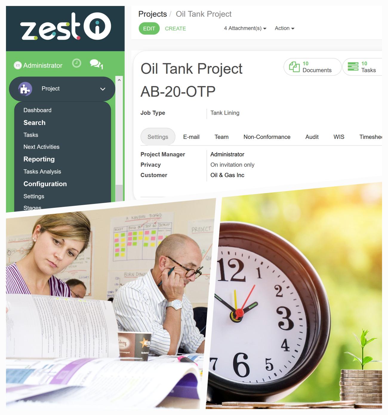 ZEST I-O Project Management Module