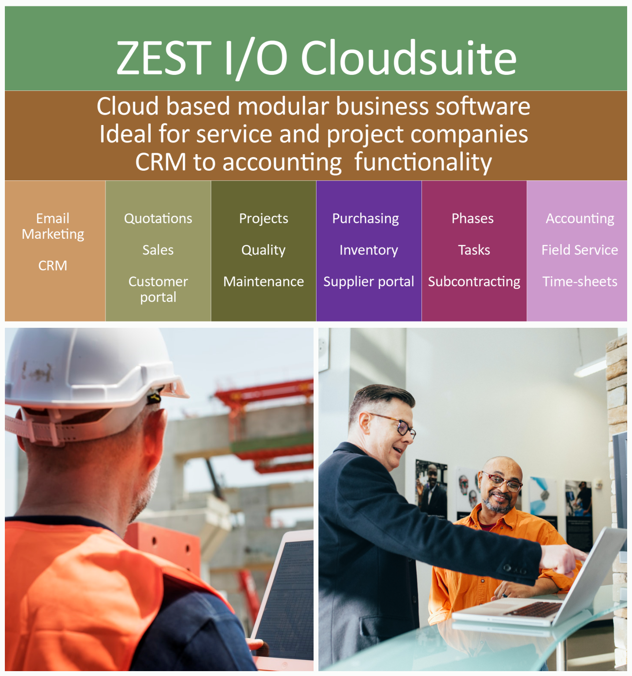 ZEST I-O Business Management Software for Project & Service Companies