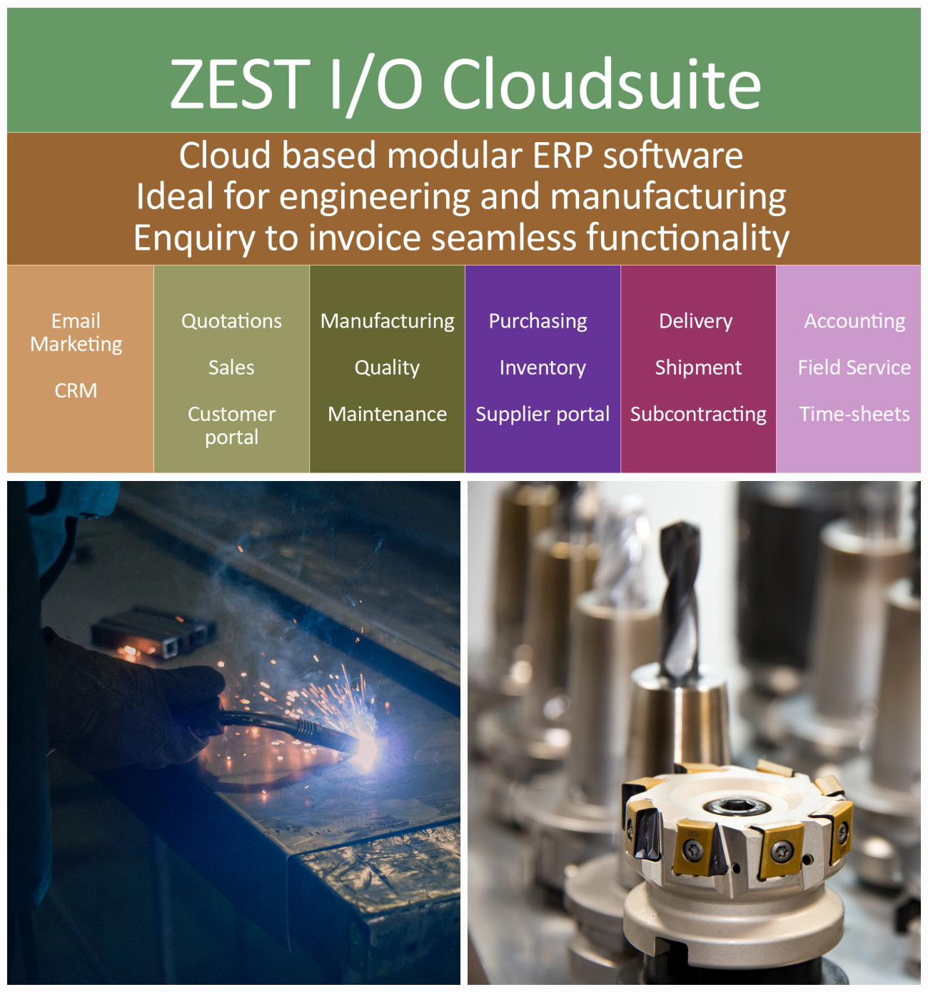 ZEST I-O Cloud ERP Software for Engineering & Manufacturing Companies